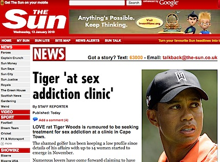 Tiger woods and sex addiction