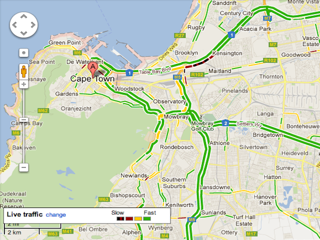 Google Maps Introduces Real-Time Traffic Overlay To South Africa ...