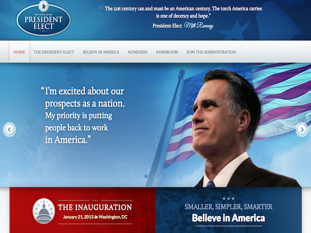 romney trasition site