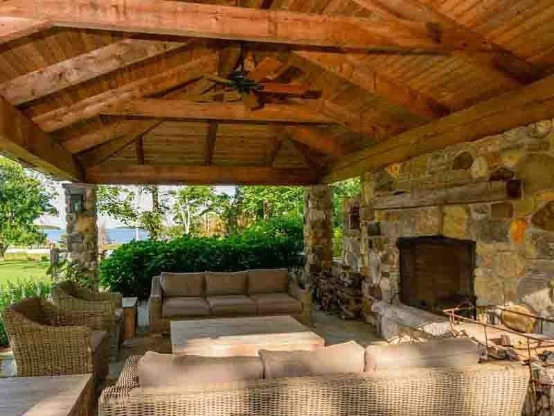 Theres Even An Outdoor Fireplace Pavilion For Entertaining