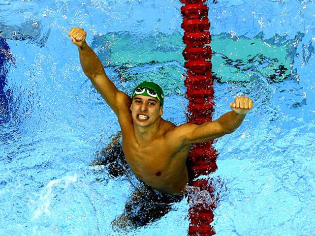 c78ac676574 Chad le Clos Breaks Butterfly World Record