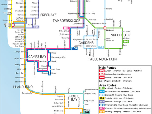 Check Out All The New Cape Town MyCiti Bus Routes Map