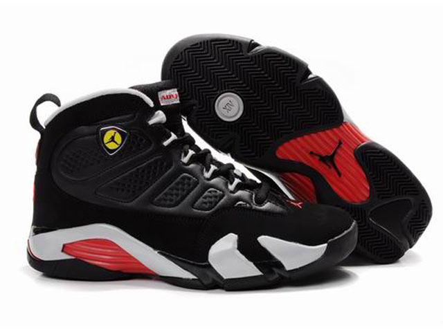 Air-Jordan-9-Retro-Fusion-Air-Jordan-14-Basketball-Shoes-Black-Red-White