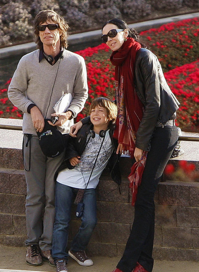 Exclusive Mick Jagger Has Quality Family Time With Son