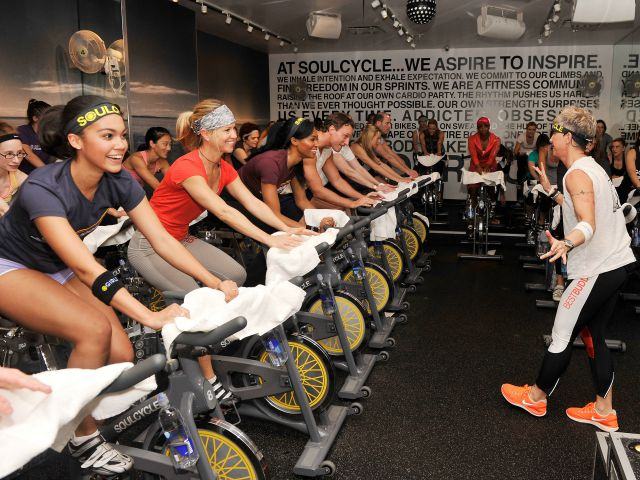 at SoulCycle, Upper East Side on January 14, 2013 in New York City.