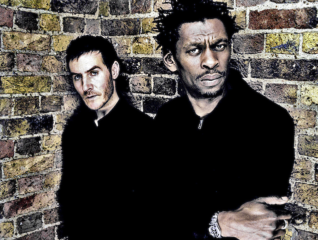Bristol based ambient band Massive Attack, with Daddy G and 3D. FOR CITYLIFE