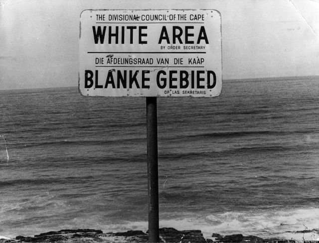 racism in south africa Beaches, bridges, swimming pools, washrooms, cinemas and even burial  grounds were all segregated under apartheid in south africa.