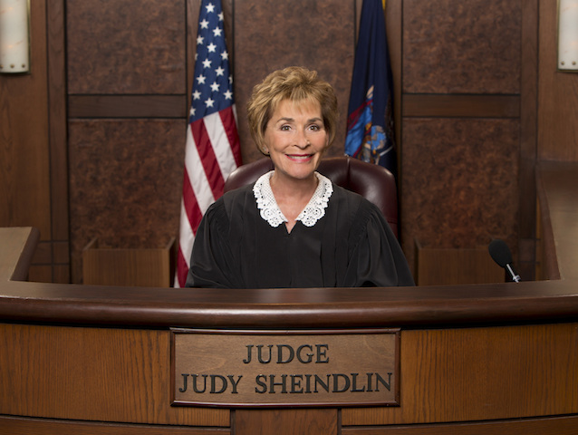 "LOS ANGELES - APRIL 14: Judge Judy Gallery for the CBS special. Judge Judy Sheindlin stars in a one-hour primetime special that will include new cases and takes a look at how the Judge transitioned from New York Family Court Judge to ""Judge Judy,"" on JUDGE JUDY PRIMETIME, Tuesday, May 20 (8:00 PM-9:00 PM, ET/PT) on the CBS Television Network. (Photo by Sonja Flemming/CBS via Getty Images) *** Local Caption *** Judy Sheindlin"