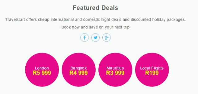 Guys, There Are Black Friday Specials On Domestic Flights From R199