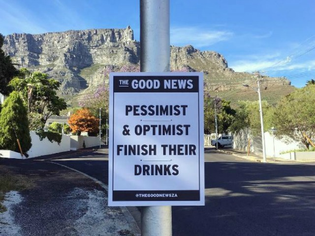 Ever Wondered Who's Behind Those Funny Newspaper Headlines Stuck On Poles Around Cape Town? [Images]