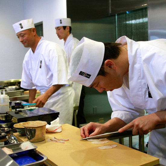 (left) Chef/owner Keizo Seki making his sushi at the new sushi bar, SUSHI ZO. (Photo by Kirk McKoy/Los Angeles Times via Getty Images)