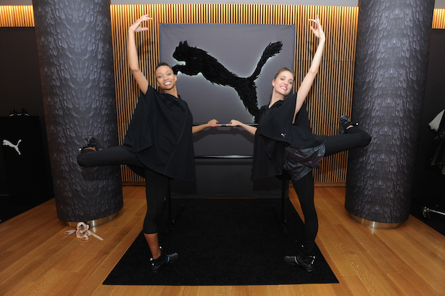 NEW YORK, NY - JANUARY 18: New York City Ballet dancers Olivia Boisson (L) and Mimi Staker attend the launch of PUMA Women's Swan Pack Collection in partnership with The New York City Ballet at NYCB's Rose Studios on January 18, 2017 in New York City. (Photo by Brad Barket/Getty Images for PUMA) *** Local Caption *** Olivia Boisson;Mimi Staker