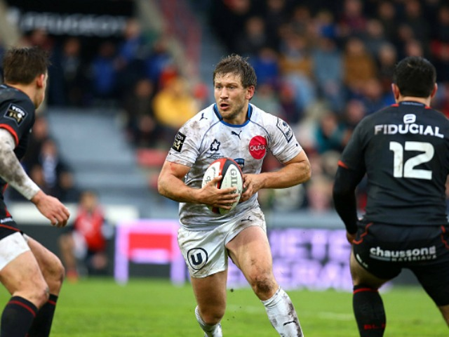 Francois Steyn of Montpellier during the French Top 14 match between Stade Toulousain ( Toulouse ) v Montpellier at Stade Ernest Wallon on February 28, 2016 in Toulouse, France.