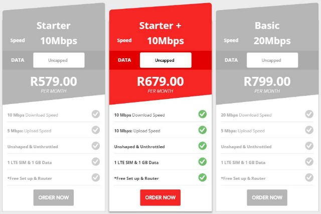 HERE IS: 10MB Fibre, Uncapped, FREE Router + Installation, R679 Per Month