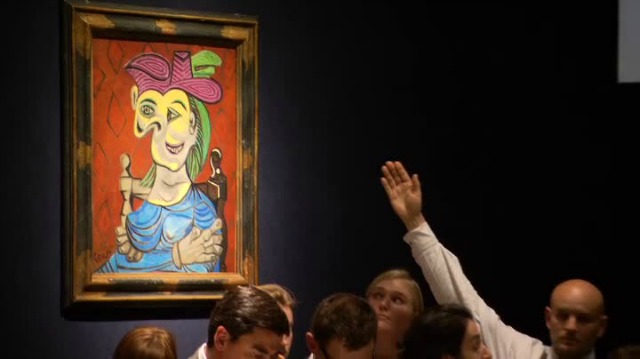 Picasso's Seated Woman in Blue Dress sells for 45 million Dollars
