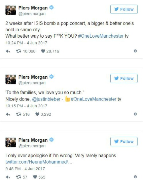 Usher explains why he missed the One Love Manchester concert