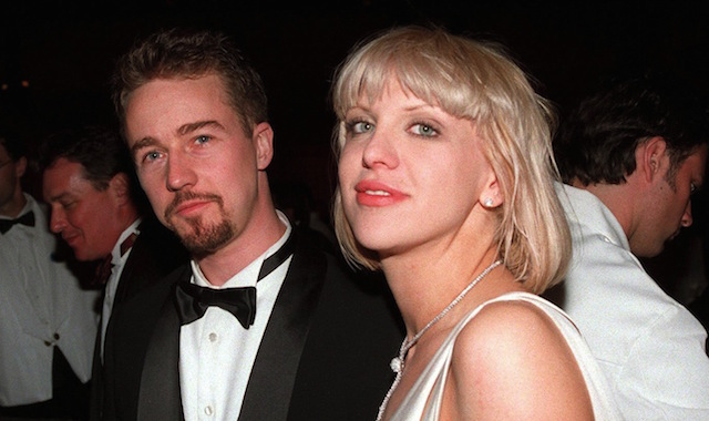 Resultado de imagen para Edward Norton y Courtney Love