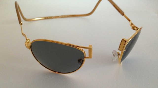 f11e4086401 These are sports sunglasses designed the founder of Ron Lando in  partnership with jewelry designer Hugh Power. Each piece is handmade over a  period of 40 to ...