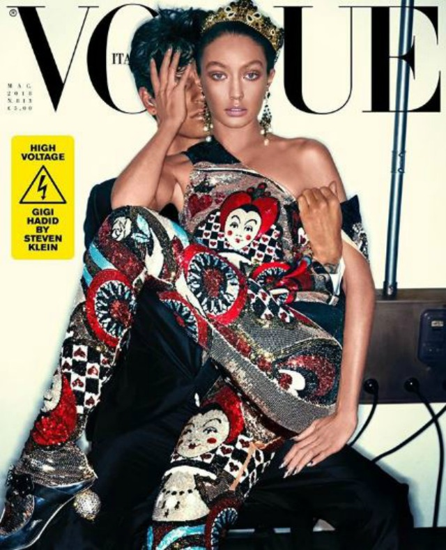Gigi Hadid Looks Barely Recognizable In Latest Cover Shot For Vogue Italy