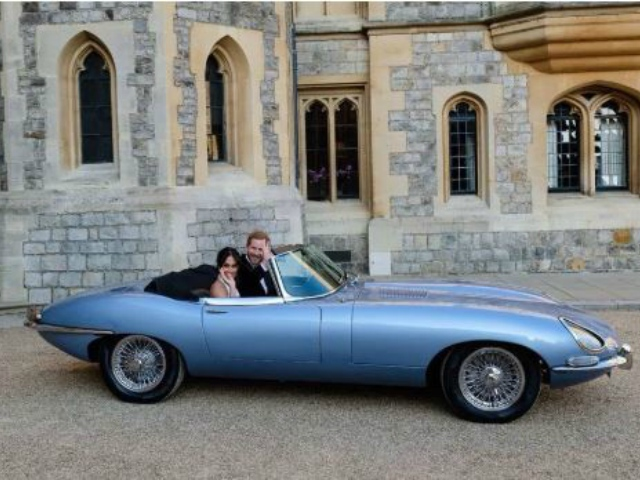 Take A Look Under The Hood Of Harry And Meghan S Electric Jaguar E Type Video 2oceansvibe