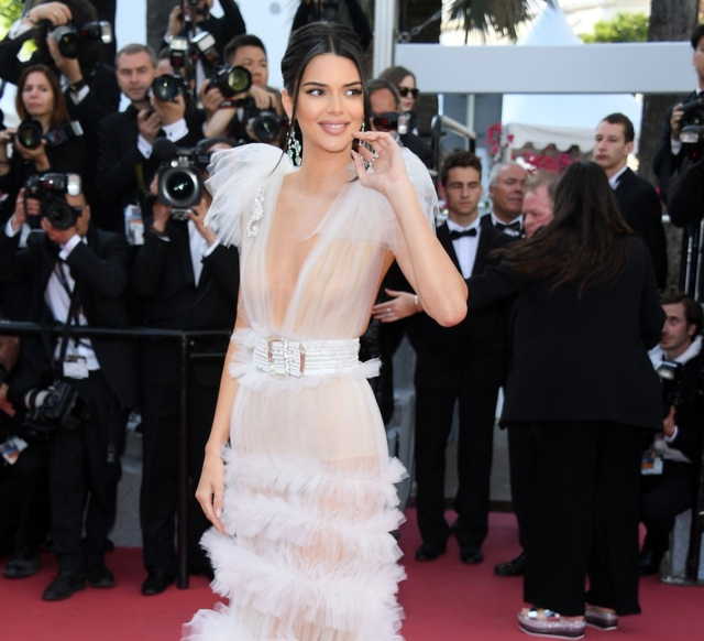 Does Kendall Jenners Dress At Cannes Count As A Nip Slip