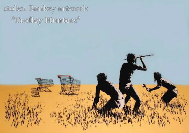 Unidentified Thief Caught On Camera Stealing $45000 Banksy Print From Exhibit