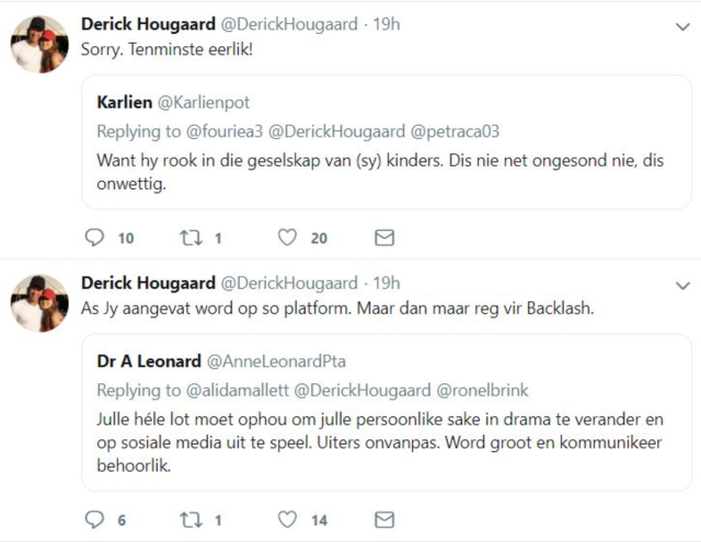 Derick Hougaard Gives His Version Of Events Following Social Media Row [Audio]