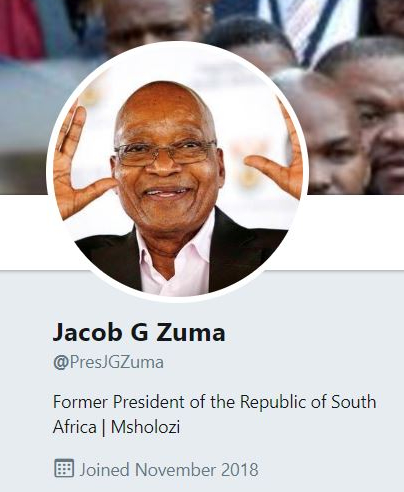 This Is Not A Drill – Jacob Zuma Just Joined Twitter [Video]