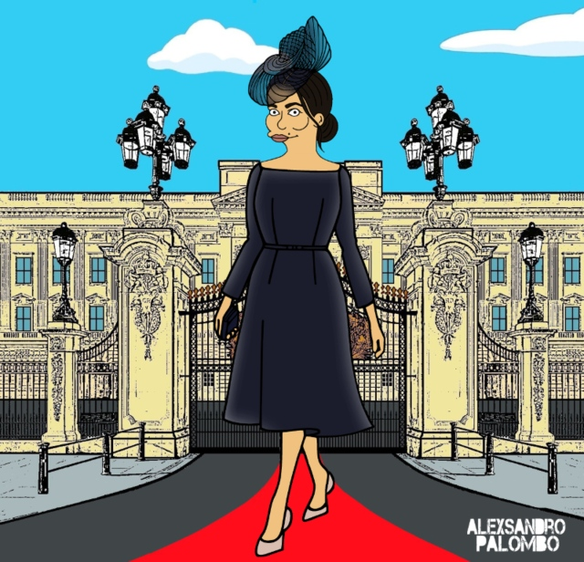 Someone Turned Meghan, Harry, Kate, Diana And The Queen Into Simpsons Characters [Images]