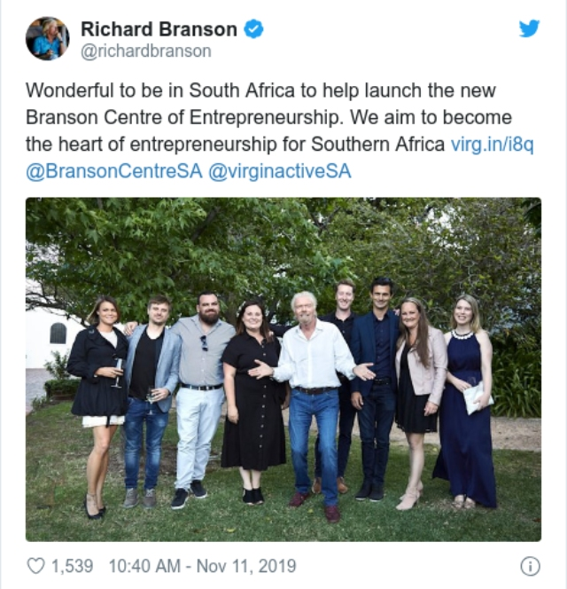 'It clearly lacked diversity': Richard Branson apologises for tweet